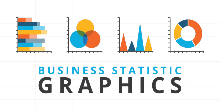 business statistic graphics by powerpoint icons