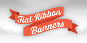 Flat Ribbon Banners PowerPoint