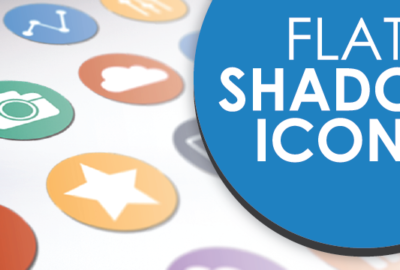 Flat Shadow Icons PowerPoint